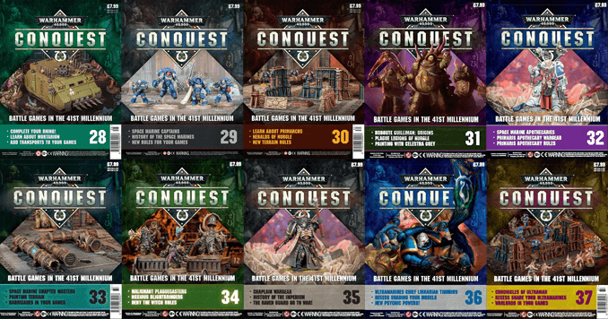 Has the Warhammer Conquest Contents changed since it was