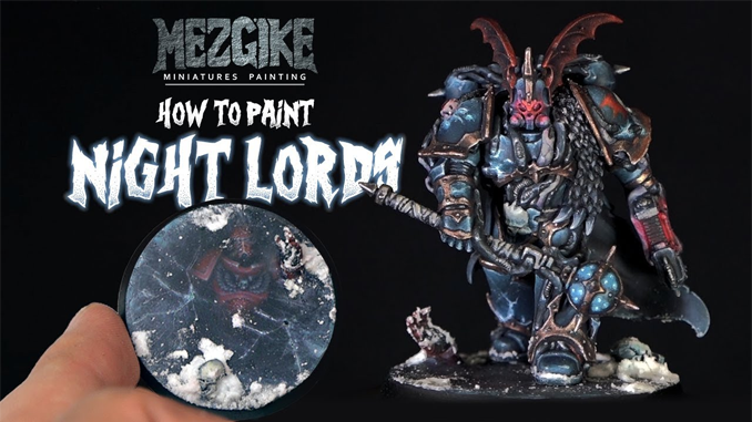 How to Paint Night Lords Chaos Space Marine