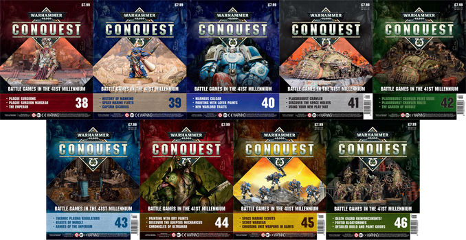 Warhammer Conquest Issue 38 - 46 Cover Contents