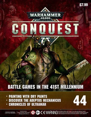 Warhammer Conquest Issue 44 Couverture Contenu