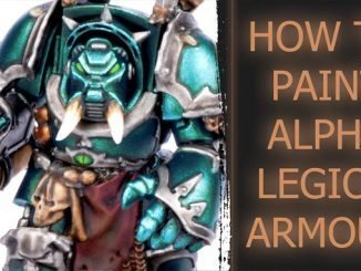 Come dipingere Alpha Legion Tutorial in primo piano