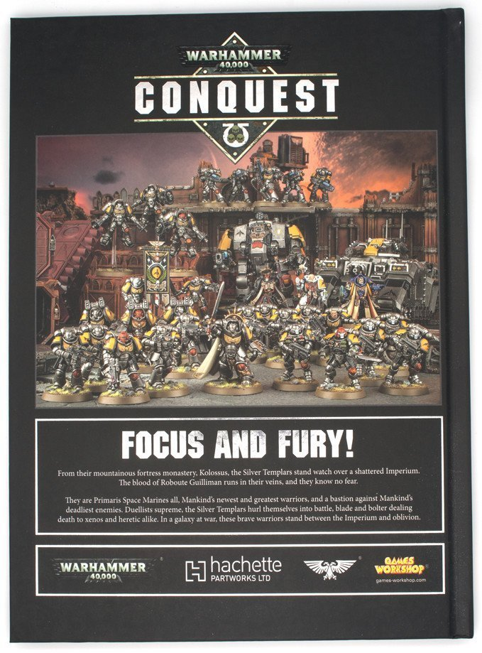Warhammer 40,000 Conquest - Silver Templars Source Book - Rear Cover