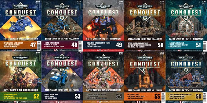 Warhammer Conquest Issue 47 - 56 Cover Contents Confirmed