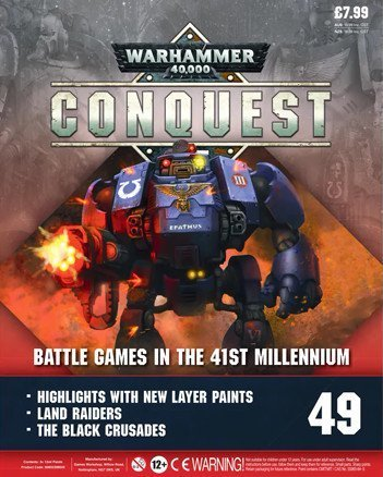 Warhammer Conquest Issue 49 Cover Contents