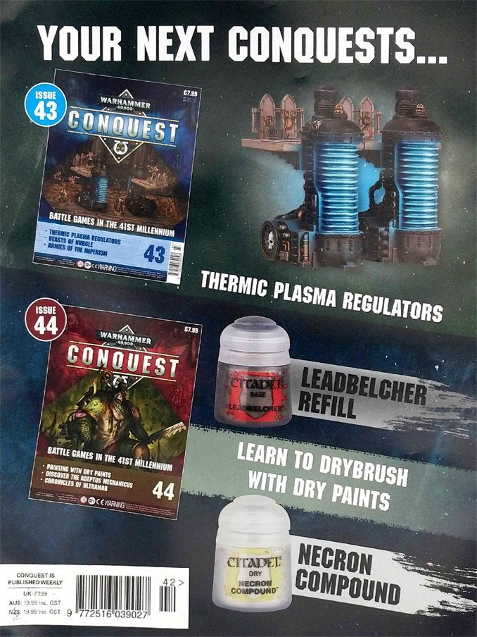 Warhammer Conquest Issues 43 & 44 Contents