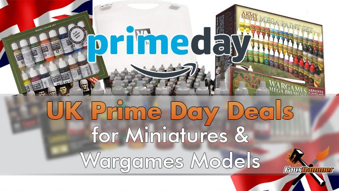 Best UK Prime Day Deals for Miniatures & Wargames Models - Featured