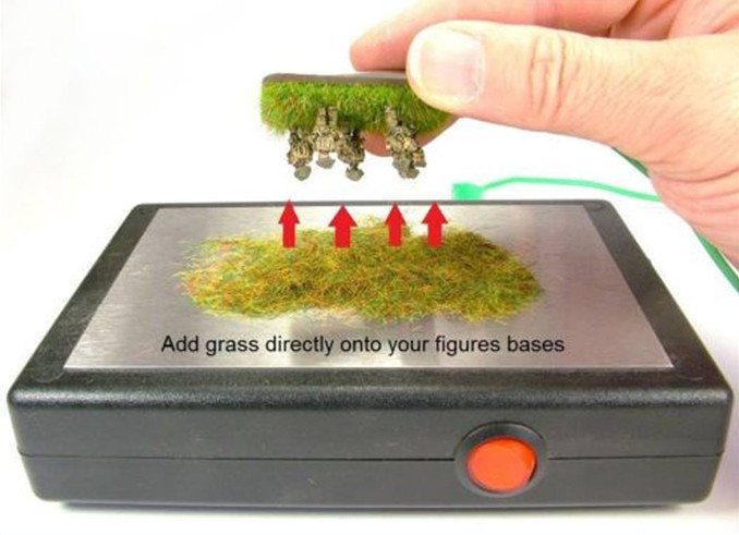 How to Make Static Grass Bases for Miniatures & Wargames Models - Static Grass Appicator