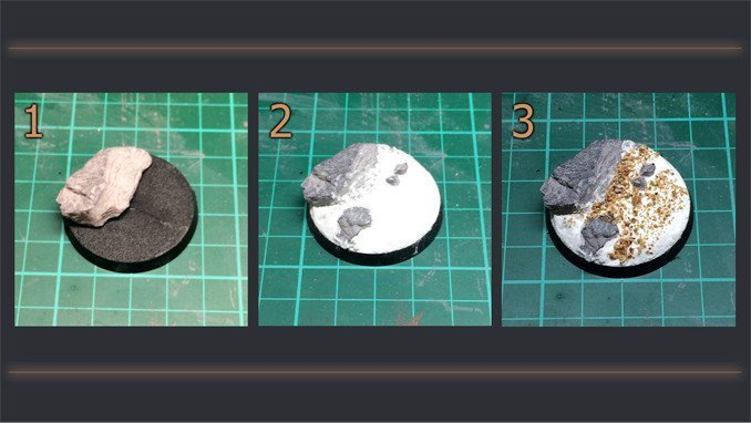 How to Make Static Grass Bases for Miniatures & Wargames Models - Steps 1-3
