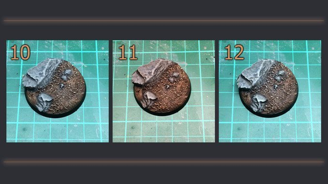 How to Make Static Grass Bases for Miniatures & Wargames Models - Steps 10-12