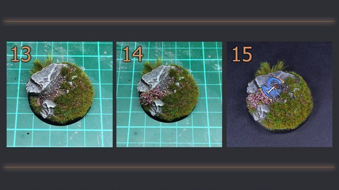 How to Make Static Grass Bases for Miniatures & Wargames Models - Steps 13-15