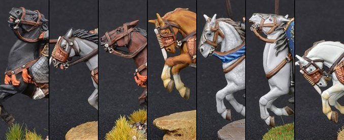How to Paint Miniature Horses for Wargames - Complete