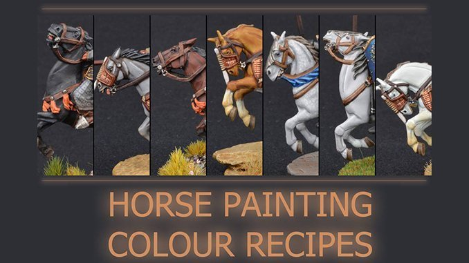 How to Paint Miniature Horses for Wargames - Featured