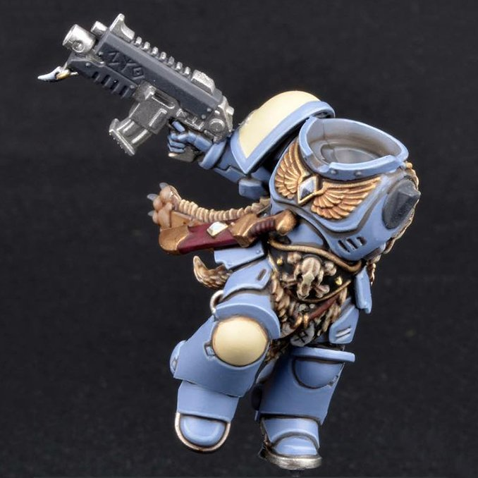 How to Paint Space Wolves Armour - Step 6