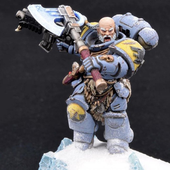 How to Paint Space Wolves Armour - Step 9