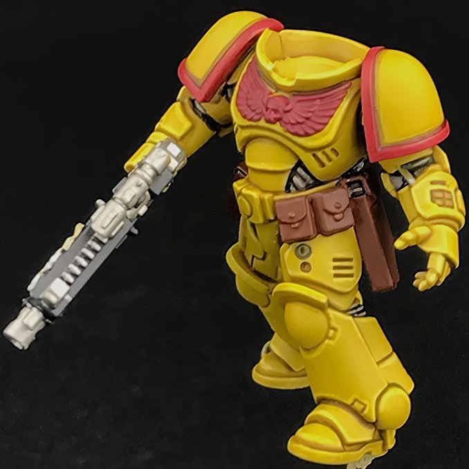 How to paint Imperial Fists Armour - Step 5
