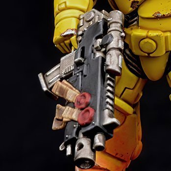 How to paint Imperial Fists Armour - Step 6c