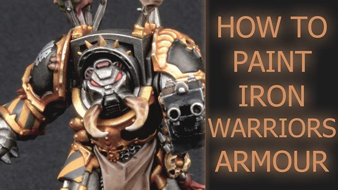 How to paint Iron Warriors Chaos Space Marines - Featured