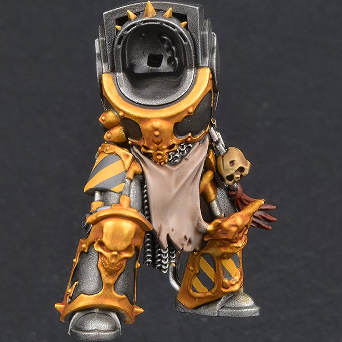 Comment peindre les Space Marines du Chaos Iron Warriors - Étape 2