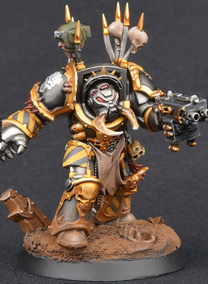 Wie man Iron Warriors Chaos Space Marines malt - Schritt 5