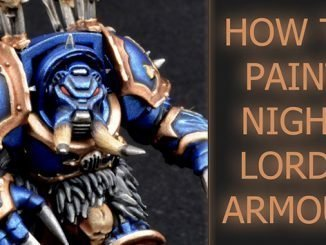 Come dipingere Night Lords Armor - In primo piano