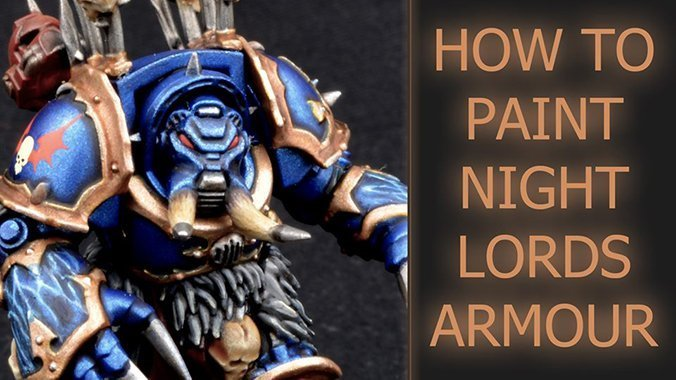 How to paint Night Lords Armour - Featured
