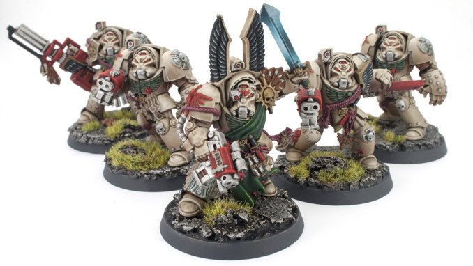 Iwata Eclipse HP-CS Review for Miniatures & Wargames Models - Deathwing Terminator Squad 8 Matte Coat