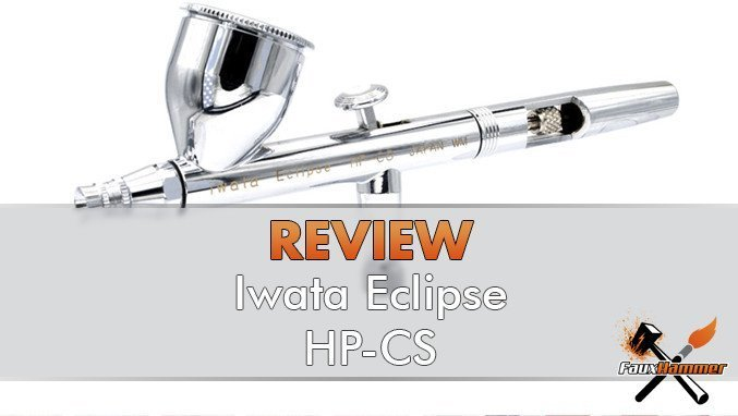 Iwata Eclipse HP-CS Review for Miniatures & Wargames Models - Featured