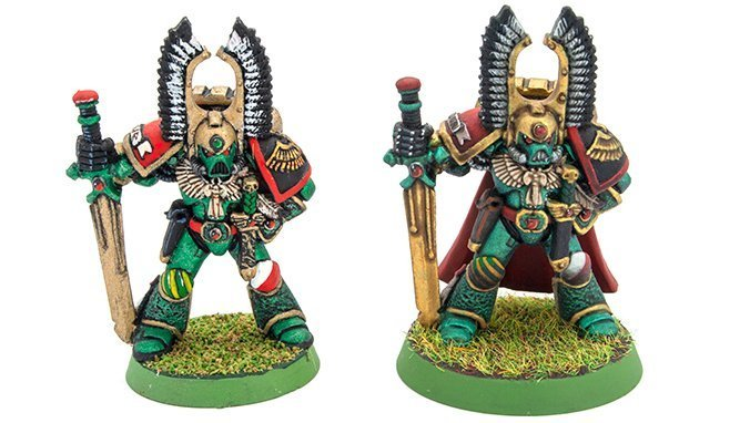 Turbodork Paint range review for Miniatures & Wargames Models - Dark Angel 6 - Comparison