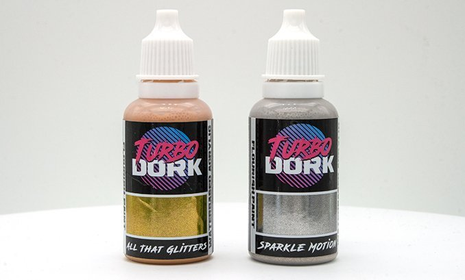 Turbodork Paint range review for Miniatures & Wargames Models - Flourish Bottles