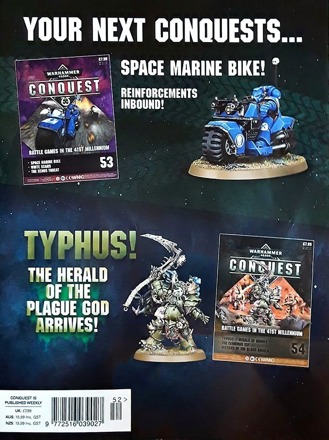 Warhammer Conquest Issues 53 & 54 Contents