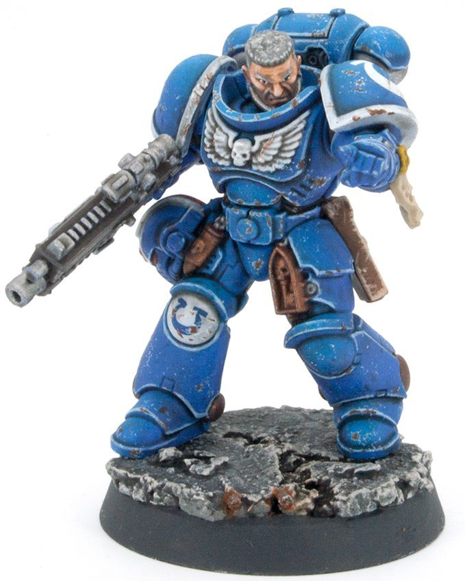 Rosemary & Co - Series 33 Brush Review for Miniatures Ultramarine Squad Leader