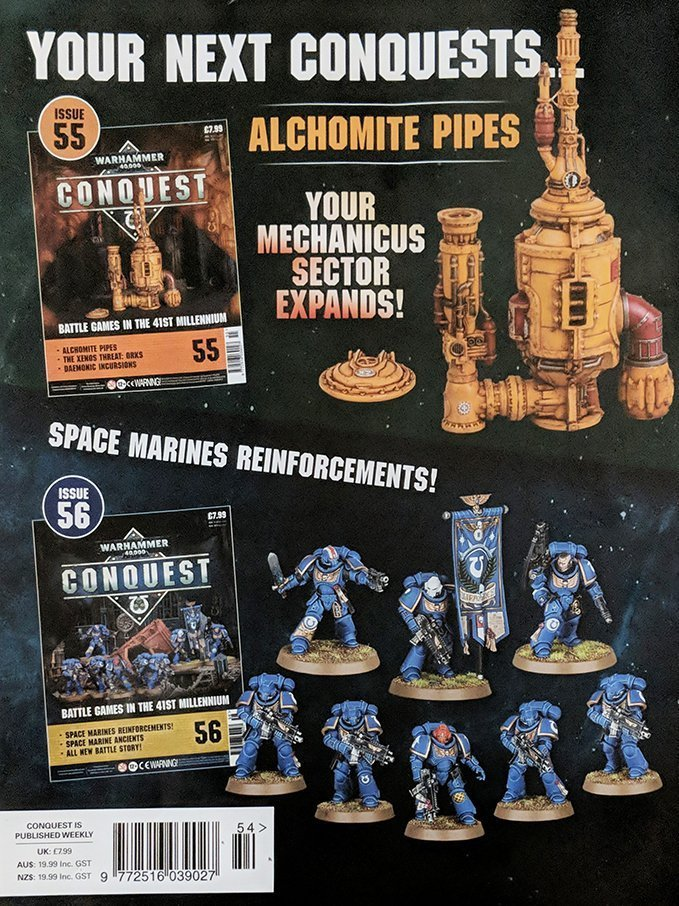 Warhammer Conquest Issues 55 & 56 Contents