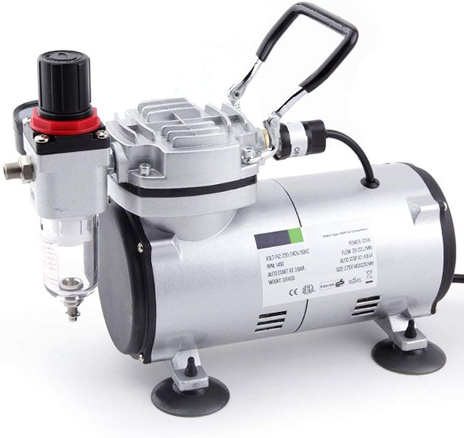 Best Airbrush Compressor for Miniatures & Models - AS18-2