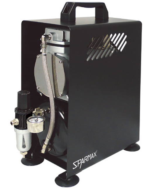Best Airbrush Compressor for Miniatures & Models - Sparmax TC-610H