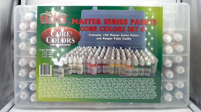 Miniaturas Reaper MSP Master Series Pinturas MSP - Core Colors Set 1 Review - En caja