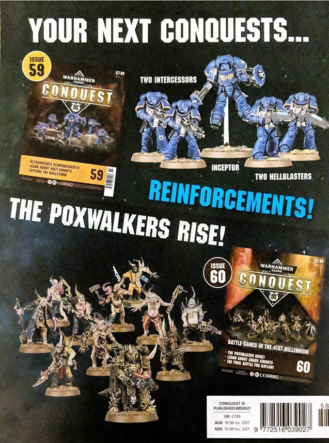 Warhammer Conquest Issues 59 & 60 Contents