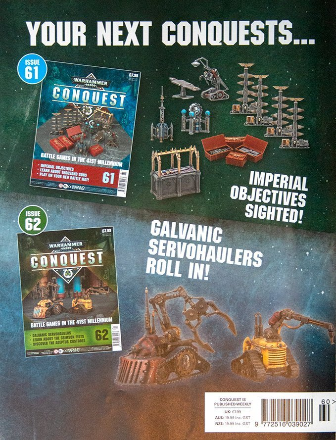 Warhammer Conquest Issues 61 & 62 Contents