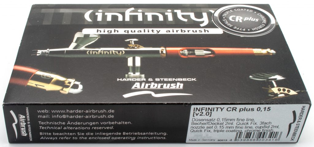 Harder & Steenbeck - Infinity CR Plus Review for Miniatures - Unboxing 2. Box