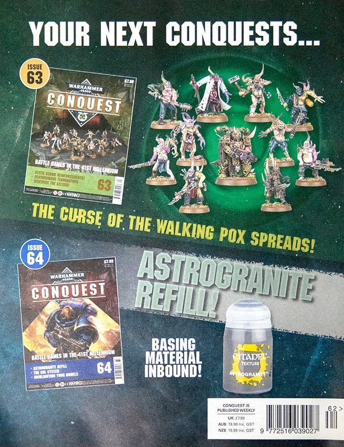Warhammer Conquest Issues 63 & 64 Contents
