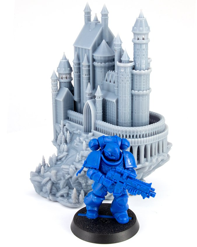 Anycubic Photon S Review for Miniatures - Castle