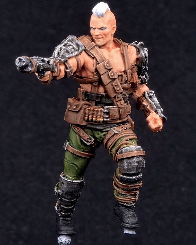 How to paint Fallout Raider from Wasteland Warfare - Step 2