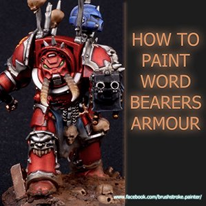 How to paint Word Bearers Armour Tutorial