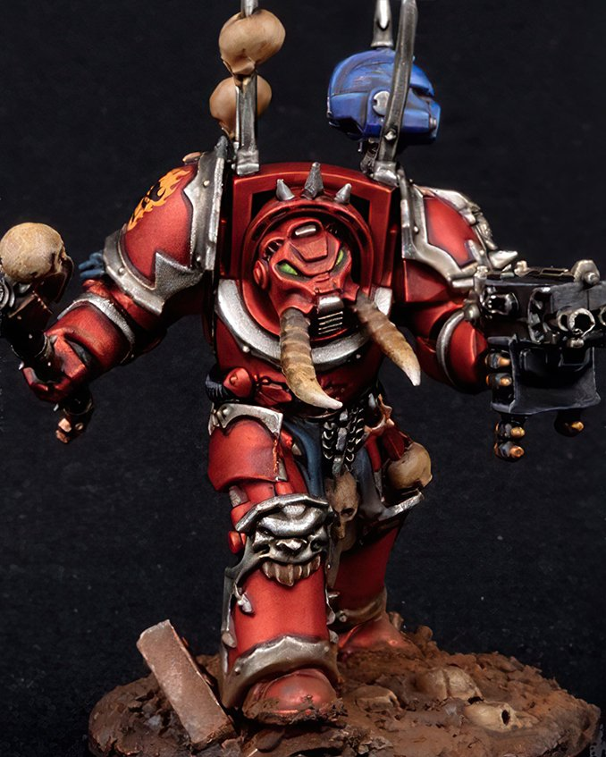 How to paint Word Bearers Armour - Step 4