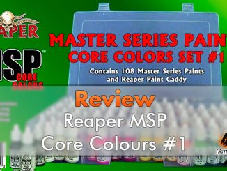 Miniaturas Reaper MSP Master Series Pinturas MSP - Core Colors Set 1 Review - Destacado
