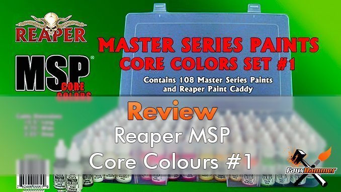 Reaper Miniatures MSP Master Series Paints MSP - Core Colors Set 1 Review - Featured