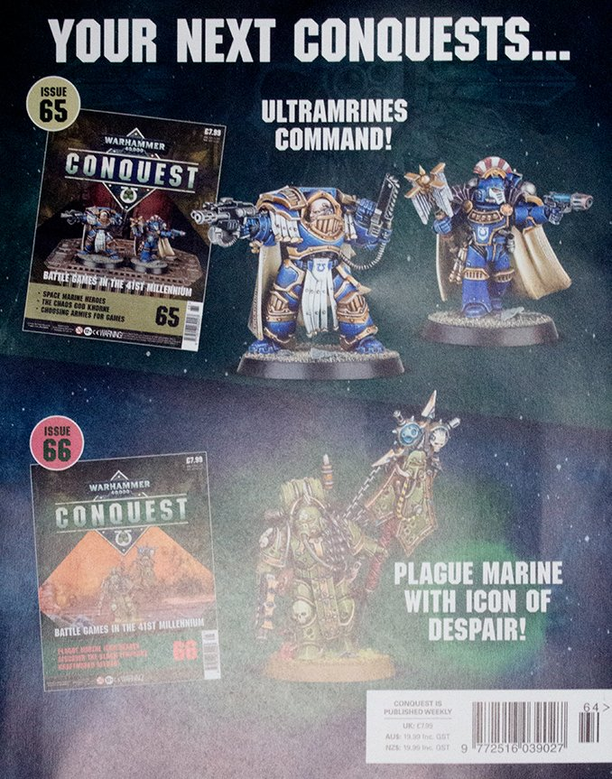 Warhammer Conquest Issues 65 & 66 Contents