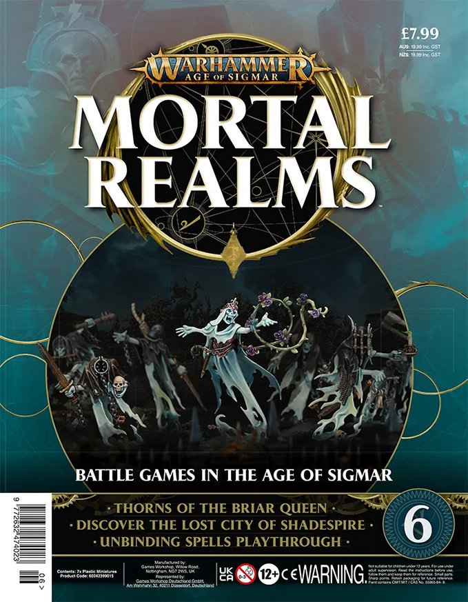 Warhammer Mortal Realms Magazine - Issue 6 Contents Cover