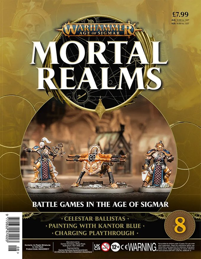 Warhammer Mortal Realms Magazine - Issue 8 Contents Cover