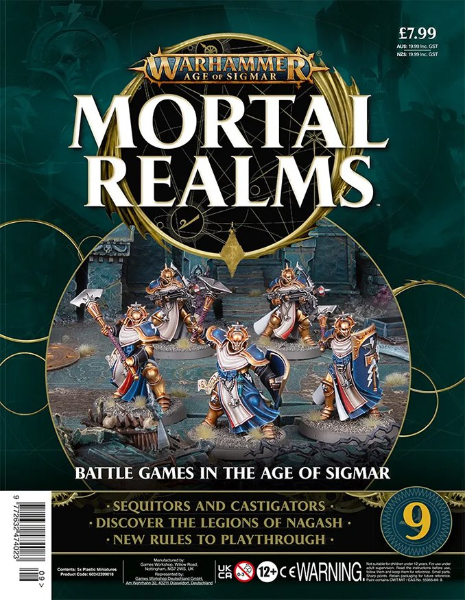 Warhammer Mortal Realms Magazine - Issue 9 Contents Cover