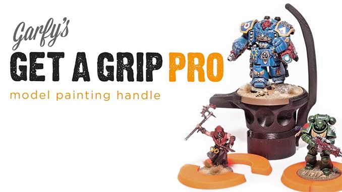 Best Hobby Painting Handle for Miniatures & Models - Garfy Get a Grip